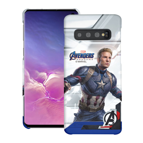 Galaxy S10 Plus Case (6.4inch) Marvel Avengers [Slim Fit] Thin Hard Matte Surface Excellent Grip Cover - End Game Captain America