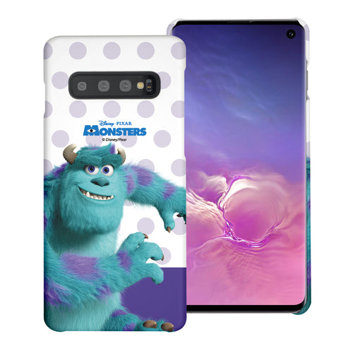 Galaxy S10 Plus Case (6.4inch) [Slim Fit] Monsters University inc Thin Hard Matte Surface Excellent Grip Cover - Movie Sulley