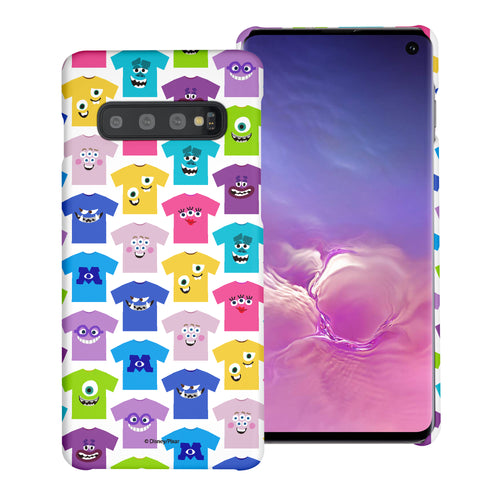 Galaxy S10 Plus Case (6.4inch) [Slim Fit] Monsters University inc Thin Hard Matte Surface Excellent Grip Cover - Pattern Shirts