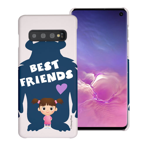 Galaxy S10 Plus Case (6.4inch) [Slim Fit] Monsters University inc Thin Hard Matte Surface Excellent Grip Cover - Simple Boo