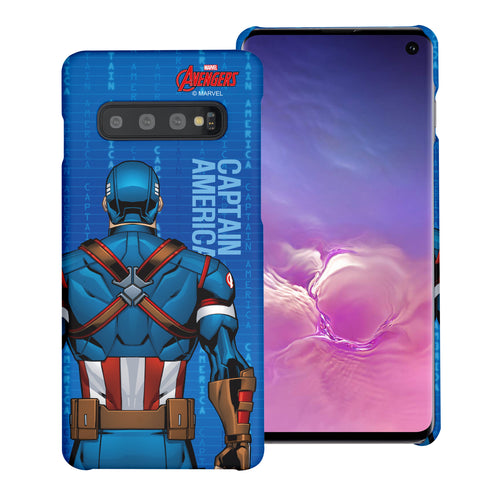 Galaxy S10 Plus Case (6.4inch) Marvel Avengers [Slim Fit] Thin Hard Matte Surface Excellent Grip Cover - Back Captain America