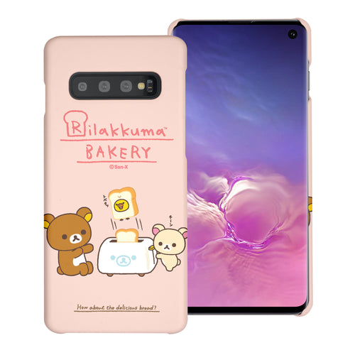 Galaxy S10e Case (5.8inch) [Slim Fit] Rilakkuma Thin Hard Matte Surface Excellent Grip Cover - Rilakkuma Toast