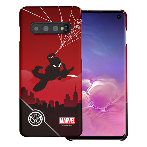 Galaxy S10 5G Case (6.7inch) Marvel Avengers [Slim Fit] Thin Hard Matte Surface Excellent Grip Cover - Shadow Spider Man