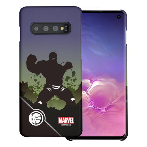 Galaxy S10 Plus Case (6.4inch) Marvel Avengers [Slim Fit] Thin Hard Matte Surface Excellent Grip Cover - Shadow Hulk
