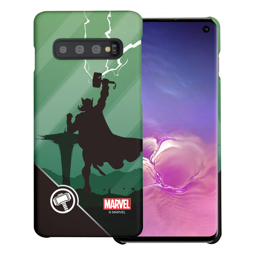 Galaxy S10 Plus Case (6.4inch) Marvel Avengers [Slim Fit] Thin Hard Matte Surface Excellent Grip Cover - Shadow Thor