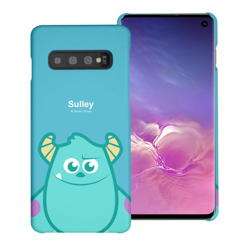 Galaxy S10 Plus Case (6.4inch) [Slim Fit] Monsters University inc Thin Hard Matte Surface Excellent Grip Cover - Big Sulley