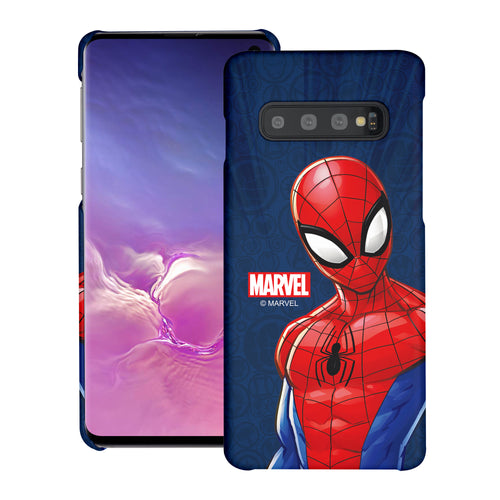 Galaxy S10 5G Case (6.7inch) Marvel Avengers [Slim Fit] Thin Hard Matte Surface Excellent Grip Cover - Illustration Spider Man