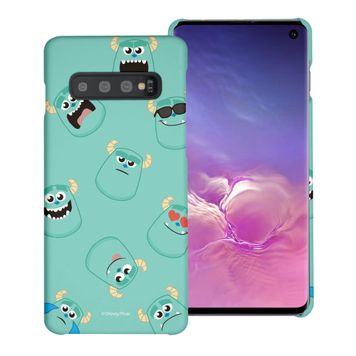 Galaxy S10 Plus Case (6.4inch) [Slim Fit] Monsters University inc Thin Hard Matte Surface Excellent Grip Cover - Pattern Sulley