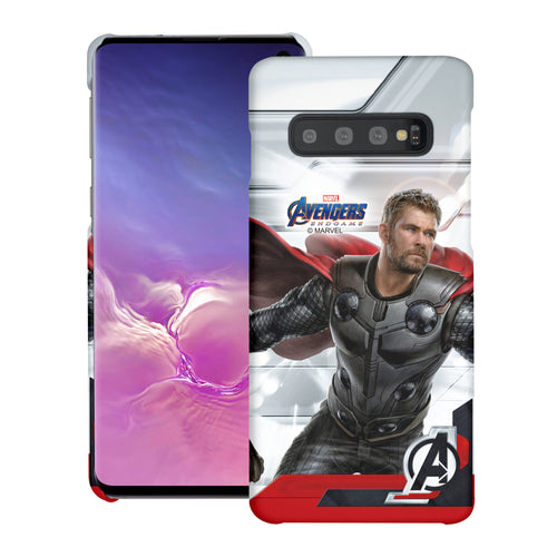 Galaxy S10 Plus Case (6.4inch) Marvel Avengers [Slim Fit] Thin Hard Matte Surface Excellent Grip Cover - End Game Thor