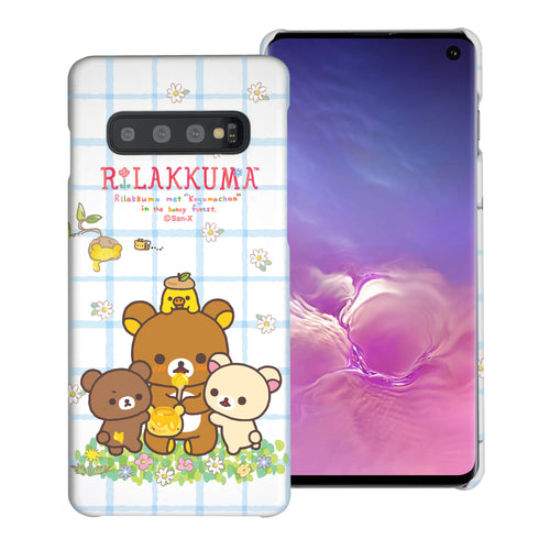 Galaxy S10e Case (5.8inch) [Slim Fit] Rilakkuma Thin Hard Matte Surface Excellent Grip Cover - Rilakkuma Honey