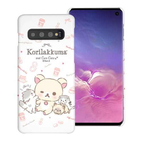 Galaxy S10e Case (5.8inch) [Slim Fit] Rilakkuma Thin Hard Matte Surface Excellent Grip Cover - Korilakkuma Cat