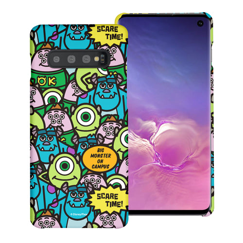 Galaxy S10 Plus Case (6.4inch) [Slim Fit] Monsters University inc Thin Hard Matte Surface Excellent Grip Cover - Pattern Face