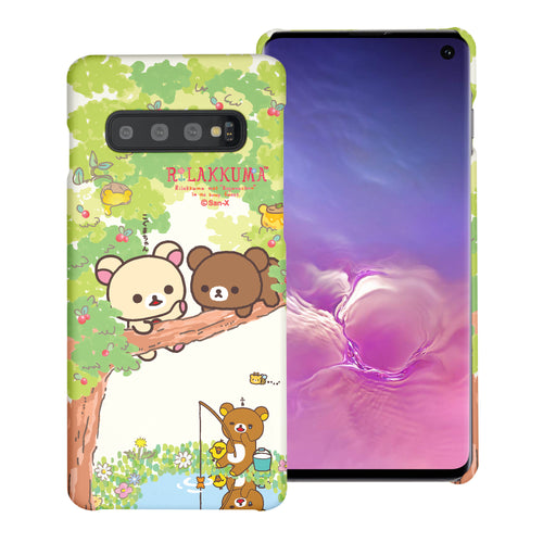 Galaxy S10e Case (5.8inch) [Slim Fit] Rilakkuma Thin Hard Matte Surface Excellent Grip Cover - Rilakkuma Forest