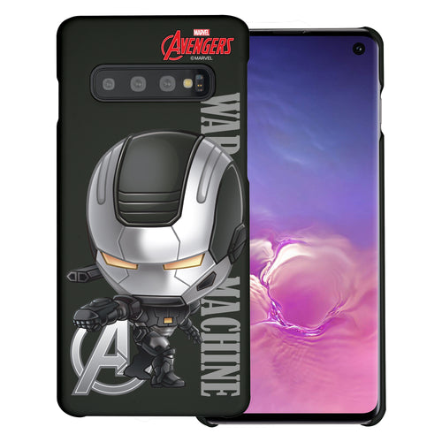 Galaxy S10 Plus Case (6.4inch) Marvel Avengers [Slim Fit] Thin Hard Matte Surface Excellent Grip Cover - Mini War Machine