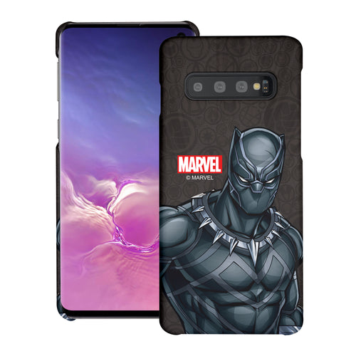 Galaxy S10 5G Case (6.7inch) Marvel Avengers [Slim Fit] Thin Hard Matte Surface Excellent Grip Cover - Illustration Black Panther