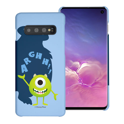 Galaxy S10 Plus Case (6.4inch) [Slim Fit] Monsters University inc Thin Hard Matte Surface Excellent Grip Cover - Simple Mike