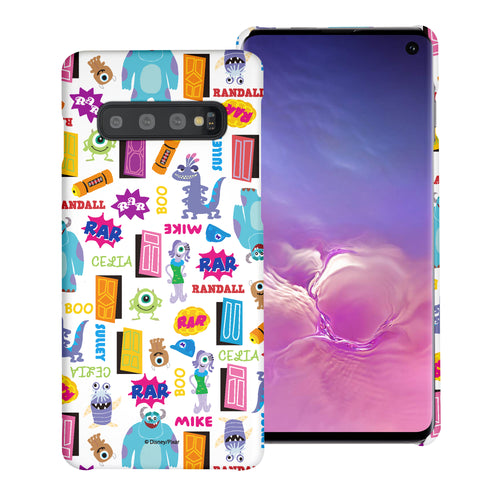 Galaxy S10 Plus Case (6.4inch) [Slim Fit] Monsters University inc Thin Hard Matte Surface Excellent Grip Cover - Pattern Name White