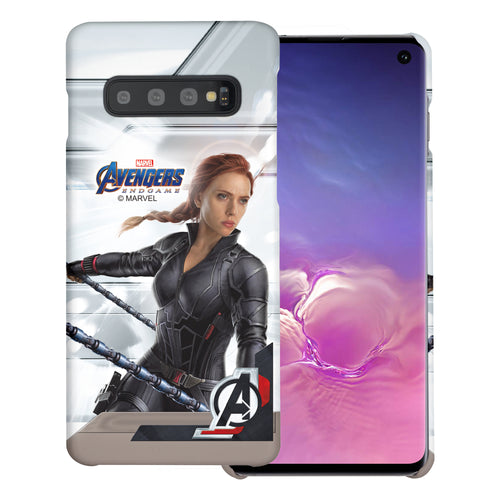 Galaxy Note8 Case Marvel Avengers [Slim Fit] Thin Hard Matte Surface Excellent Grip Cover - End Game Black Widow