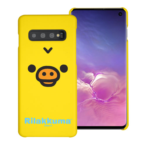 Galaxy S10e Case (5.8inch) [Slim Fit] Rilakkuma Thin Hard Matte Surface Excellent Grip Cover - Face Kiiroitori