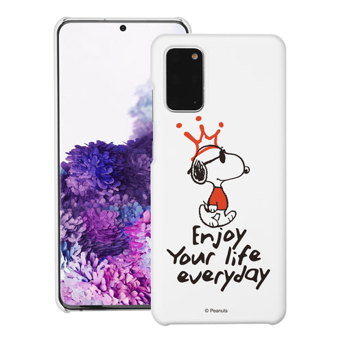 Galaxy S20 Ultra Case (6.9inch) [Slim Fit] PEANUTS Thin Hard Matte Surface Excellent Grip Cover - Snoopy Crown