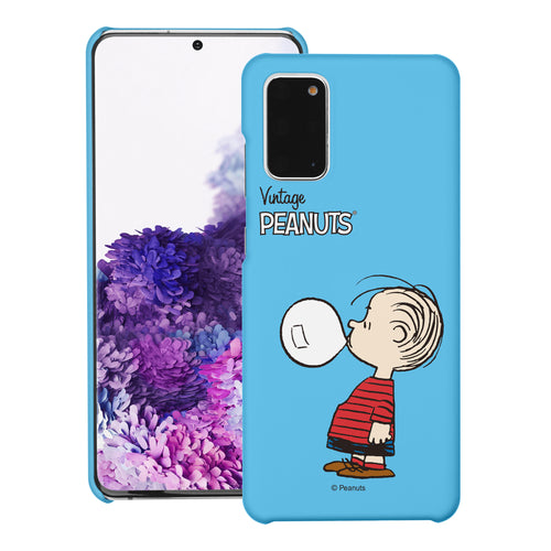 Galaxy S20 Ultra Case (6.9inch) [Slim Fit] PEANUTS Thin Hard Matte Surface Excellent Grip Cover - Simple Linus