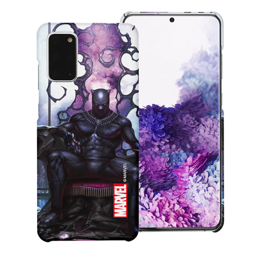 Galaxy Note20 Case (6.7inch) Marvel Avengers [Slim Fit] Thin Hard Matte Surface Excellent Grip Cover - Black Panther Sit