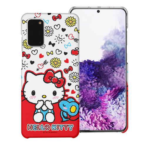 Galaxy S20 Ultra Case (6.9inch) [Slim Fit] Sanrio Thin Hard Matte Surface Excellent Grip Cover - Kiss Hello Kitty