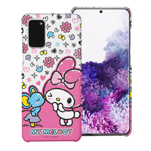 Galaxy S20 Ultra Case (6.9inch) [Slim Fit] Sanrio Thin Hard Matte Surface Excellent Grip Cover - Kiss My Melody