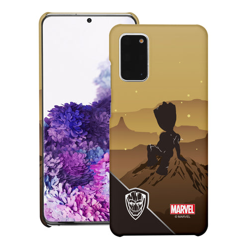Galaxy Note20 Ultra Case (6.9inch) Marvel Avengers [Slim Fit] Thin Hard Matte Surface Excellent Grip Cover - Shadow Groot