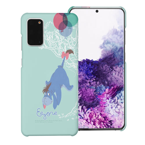 Galaxy Note20 Case (6.7inch) [Slim Fit] Disney Pooh Thin Hard Matte Surface Excellent Grip Cover - Balloon Eeyore