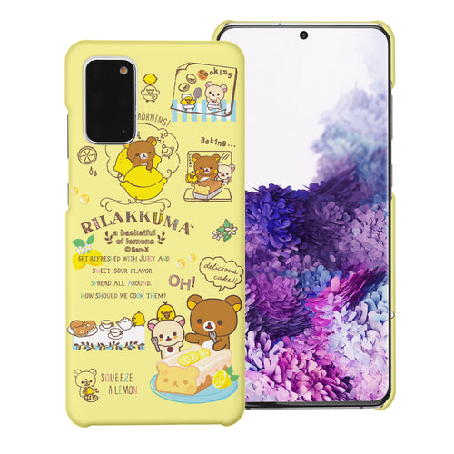 Galaxy S20 Ultra Case (6.9inch) [Slim Fit] Rilakkuma Thin Hard Matte Surface Excellent Grip Cover - Rilakkuma Cooking