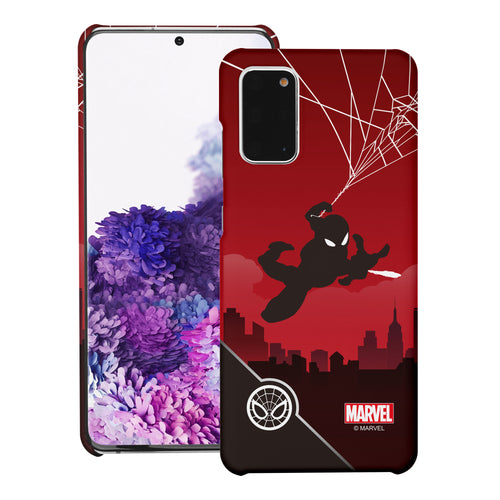 Galaxy Note20 Case (6.7inch) Marvel Avengers [Slim Fit] Thin Hard Matte Surface Excellent Grip Cover - Shadow Spider Man