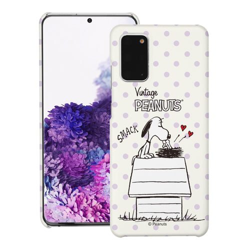 Galaxy S20 Ultra Case (6.9inch) [Slim Fit] PEANUTS Thin Hard Matte Surface Excellent Grip Cover - Smack Snoopy Birds