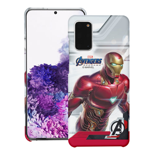 Galaxy Note20 Case (6.7inch) Marvel Avengers [Slim Fit] Thin Hard Matte Surface Excellent Grip Cover - End Game Iron Man