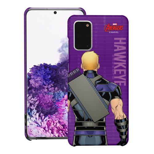 Galaxy S20 Case (6.2inch) Marvel Avengers [Slim Fit] Thin Hard Matte Surface Excellent Grip Cover - Back Hawkeye