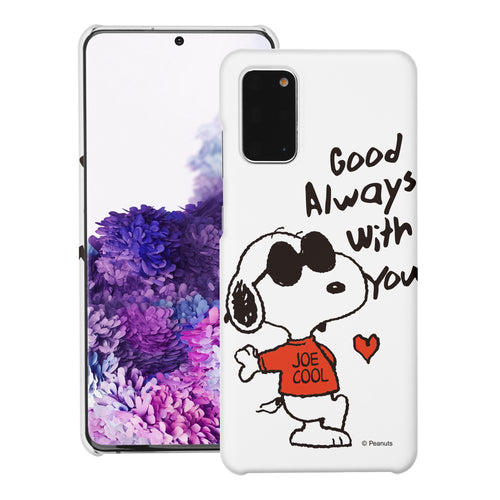 Galaxy S20 Ultra Case (6.9inch) [Slim Fit] PEANUTS Thin Hard Matte Surface Excellent Grip Cover - Snoopy Love Red