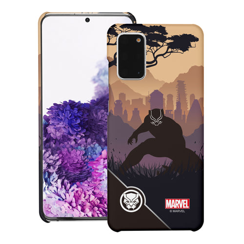 Galaxy Note20 Ultra Case (6.9inch) Marvel Avengers [Slim Fit] Thin Hard Matte Surface Excellent Grip Cover - Shadow Black Panther