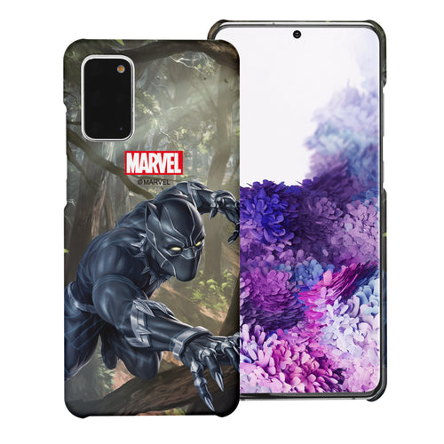 Galaxy Note20 Case (6.7inch) Marvel Avengers [Slim Fit] Thin Hard Matte Surface Excellent Grip Cover - Black Panther Jungle
