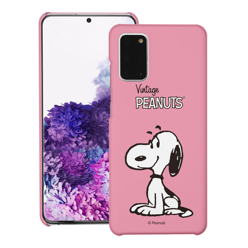 Galaxy S20 Ultra Case (6.9inch) [Slim Fit] PEANUTS Thin Hard Matte Surface Excellent Grip Cover - Simple Snoopy