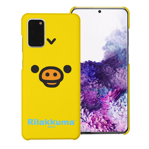 Galaxy S20 Ultra Case (6.9inch) [Slim Fit] Rilakkuma Thin Hard Matte Surface Excellent Grip Cover - Face Kiiroitori