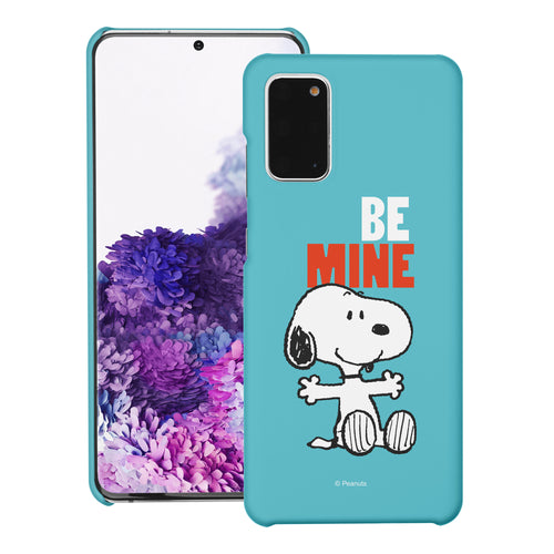 Galaxy S20 Ultra Case (6.9inch) [Slim Fit] PEANUTS Thin Hard Matte Surface Excellent Grip Cover - Snoopy Be Mine Cyan