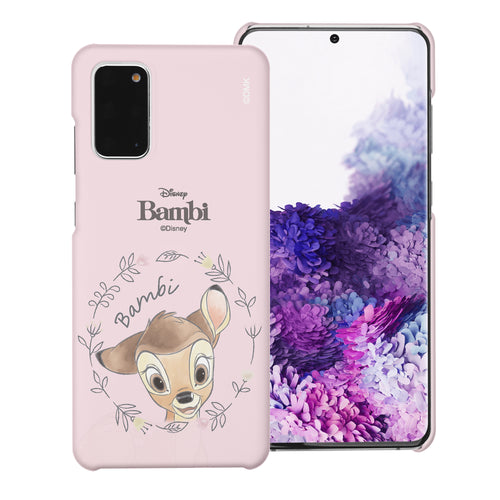 Galaxy Note20 Case (6.7inch) [Slim Fit] Disney Bambi Thin Hard Matte Surface Excellent Grip Cover - Face Bambi