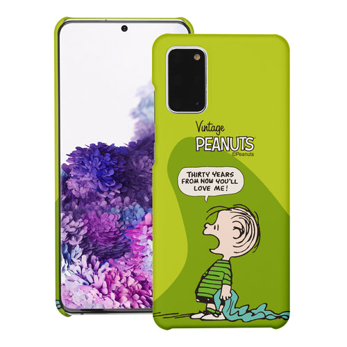 Galaxy S20 Ultra Case (6.9inch) [Slim Fit] PEANUTS Thin Hard Matte Surface Excellent Grip Cover - Cartoon Linus