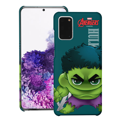 Galaxy Note20 Case (6.7inch) Marvel Avengers [Slim Fit] Thin Hard Matte Surface Excellent Grip Cover - Mini Hulk