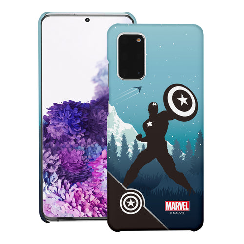 Galaxy S20 Case (6.2inch) Marvel Avengers [Slim Fit] Thin Hard Matte Surface Excellent Grip Cover - Shadow Captain America