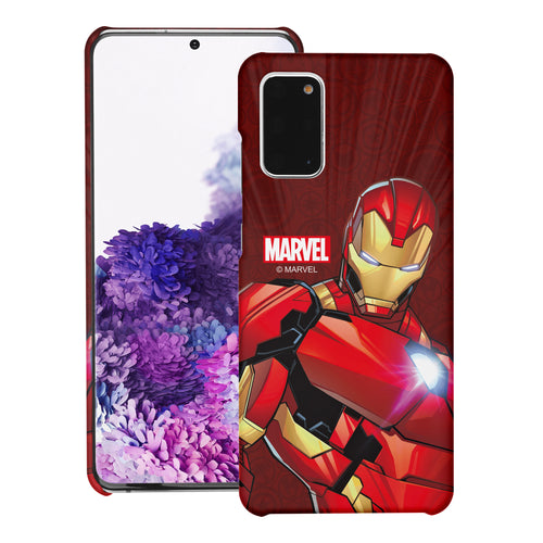 Galaxy S20 Case (6.2inch) Marvel Avengers [Slim Fit] Thin Hard Matte Surface Excellent Grip Cover - Illustration Iron Man