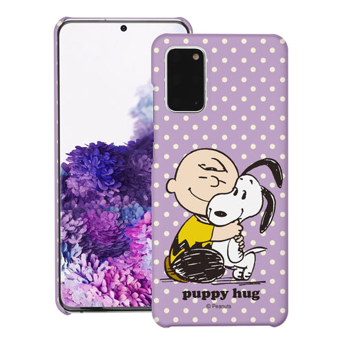 Galaxy S20 Ultra Case (6.9inch) [Slim Fit] PEANUTS Thin Hard Matte Surface Excellent Grip Cover - Hug Charlie Brown