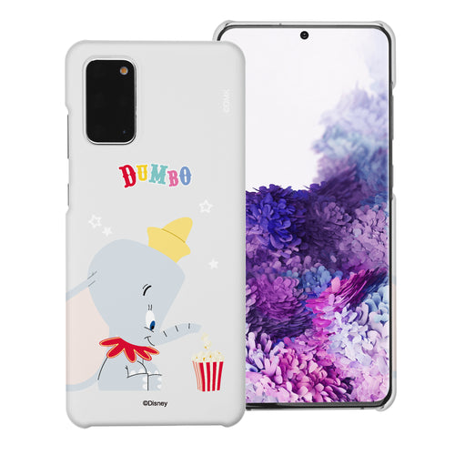 Galaxy S20 Case (6.2inch) [Slim Fit] Disney Dumbo Thin Hard Matte Surface Excellent Grip Cover - Dumbo Popcorn