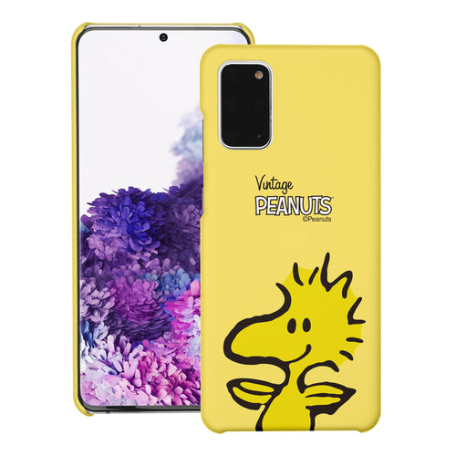 Galaxy S20 Ultra Case (6.9inch) [Slim Fit] PEANUTS Thin Hard Matte Surface Excellent Grip Cover - Face Woodstock