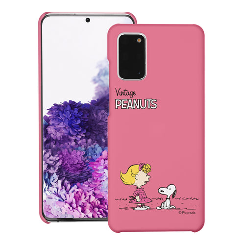 Galaxy S20 Ultra Case (6.9inch) [Slim Fit] PEANUTS Thin Hard Matte Surface Excellent Grip Cover - Small Snoopy Sally